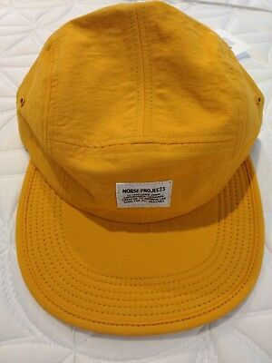 Brand New with Tags Norse Projects Mesh 5 Panel Cap in Yellow