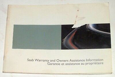 SAAB Warranty Owners Assistance Information 2005 Original Booklet English French