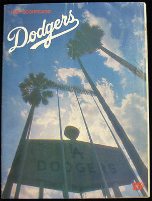 1975 Los Angeles Dodgers New York Mets Scorecard Baseball Program - Steve Garvey