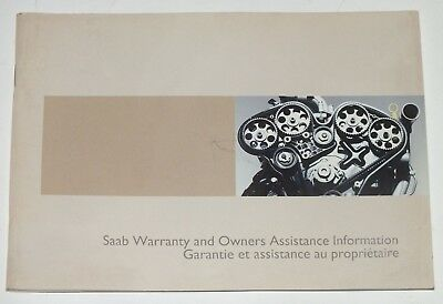 SAAB Warranty Owners Assistance Information 2004 Original Booklet English French
