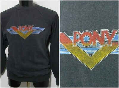 VTG PONY Atheltic Apparel Sweatshirt Sweater 90s Black Red Yellow Blue