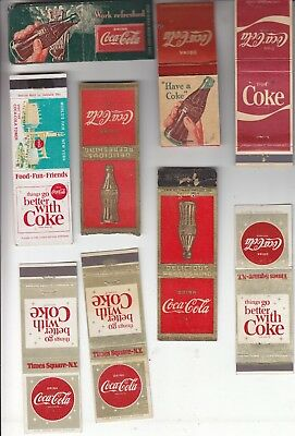 Coca-Cola Matchbooks 9 Assorted Styles