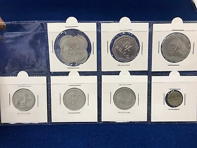 Royal Queensland Yacht Club set of 7 different Tokens - SCARCE