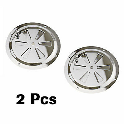 """2PCS Round Butterfly Ventilator Vent Cover Stainless 5"""" Marine Boat Practical"""