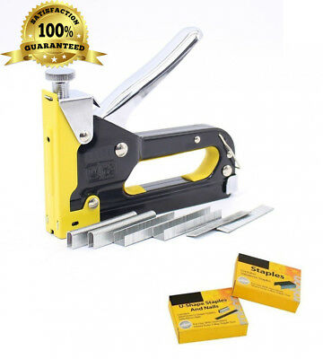 3 in 1 Staple Gun Complete with 600 Free Staples, 3-Way Tacker, Heavy Duty...