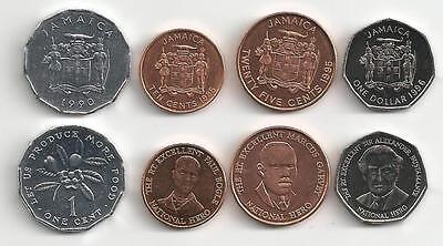 Jamaica 4 Coin Type Set Ackee Fruit Uncirculated