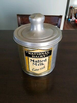 Vintage 100% Original  National Dairy Malted Milk Fountain Container