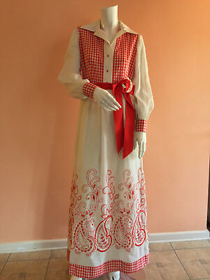 1970's Pat Sandler maxi dress - owned by movie star Ann Rutherford of GWTW