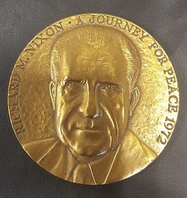 "1972 Richard Nixon ""A Journey For Peace"" Medal"