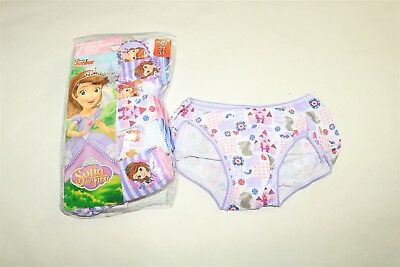 LOT OF 7 DISNEY SOFIA the FIRST Toddler Girl's Printed Briefs Panties - 2T/3T