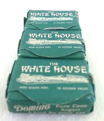Rare Vintage Domino Sugar-The White House Cafe & Liquor Store, Minnesota 1950's