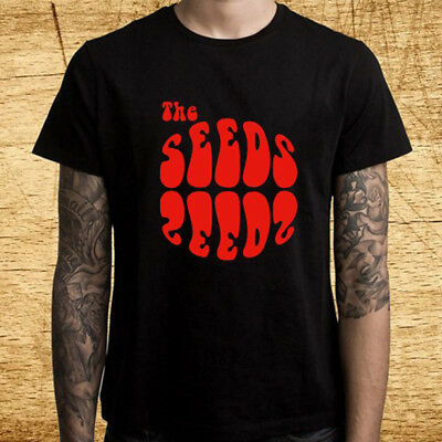 New The Seeds American Rock Band Logo Men's Black T-Shirt Size S-3XL
