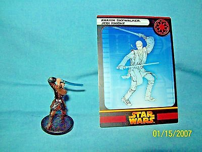 WotC Star Wars Miniatures Anakin Skywalker, Jedi Knight, RotS 03/60, Rep, Rare