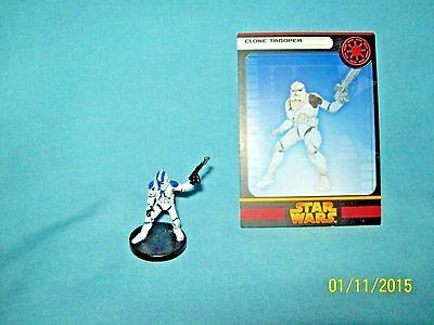 WotC Star Wars Miniatures Clone Trooper, RotS 09/60, Republic, Common