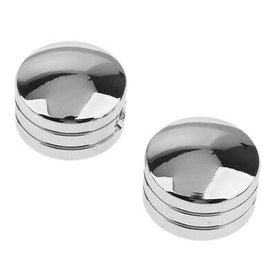 2pcs Silver Head Bolt Covers for Harley Twin Cam Big Twin 1340 Sportster XL