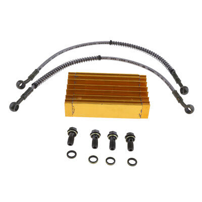 Gold Cooling Radiator Oil Cooler For 125cc 140cc 150cc CRF50 Pit Dirt Bike
