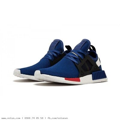 sale retailer 6fd03 ee214 Adidas NMD XR1 Nomad Boost Mystery Blue Vivid Red White Black AC7185 Men  8-13