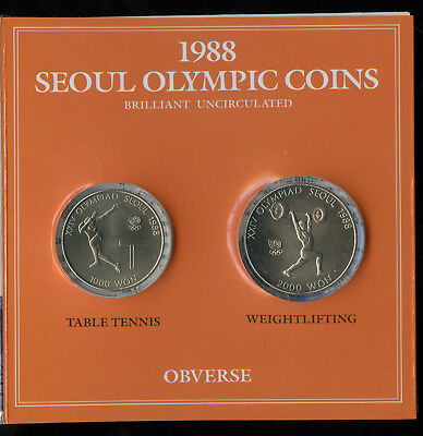 Official Commemorative Coins of the XXIVth Olympiad 1988 Seoul Olympics Series 4