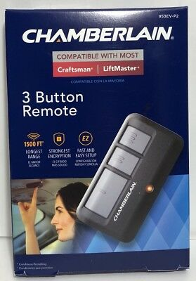 *NEW* Chamberlain 3-Button Visor Remote Control with MyQ Technology 953EV-P2