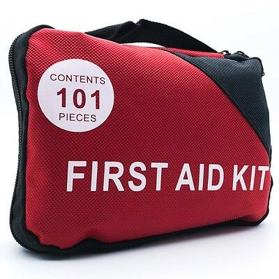 First Aid Kit Camping Hiking Travel Waterproof Case Bag Emergency Portable Car