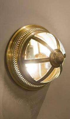 Emac Lawton Walter Wall Light E27 in Antique Brass or Nickel 30cm