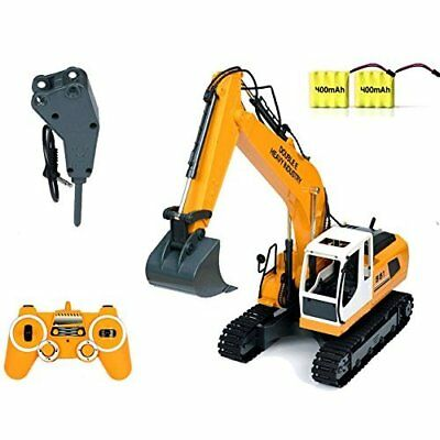 RC Excavator 17 Channel Tractor Toy Construction Vehicles Metal Shovel & Breaker