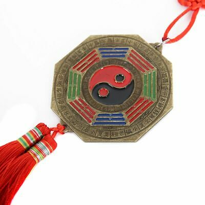 Chinese Feng Shui Bagua Mirror Luck Fortune Prayer Hanging Charm Home Decor 32cm