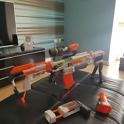 Nerf N-Strike Ecs-10 Modulus Blaster With Scope,magazine And Bullets