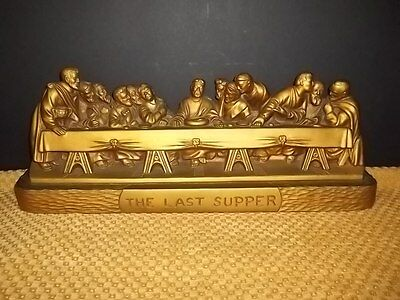 THE Last Supper Chalkware Plaque Mfg. Adam Meldrum & Anderson 15X10 ...