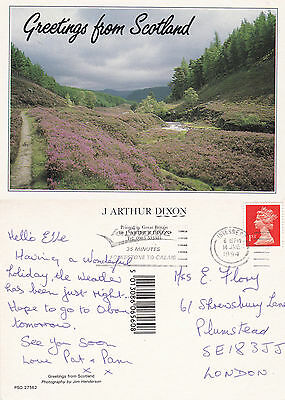 1994 Greetings From Scotland Colour Postcard