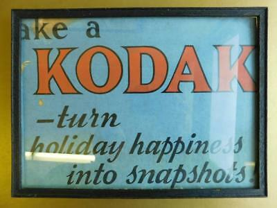 Nice early framed card print Advertising Sign Kodak Cameras c1900s