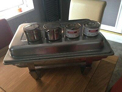 Used Chafing Unit Complete Including 2 Unused Chafing Fuel