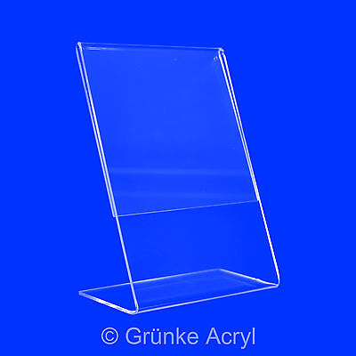 L Stand - Acrylic Advertising Display Stand Display in A3 - A7 Price Display