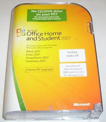 Microsoft Office Home and Student 2007 for PC - 3 licences