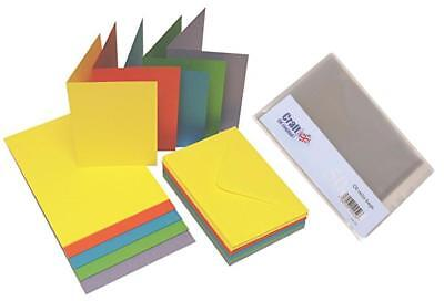 Craft UK bright pastel christmas card packs with cello bags C6 size colour