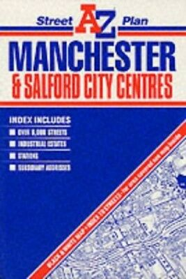 A. - Z. Street Plan of Manchester and Salford City Centres ... Sheet map, folded