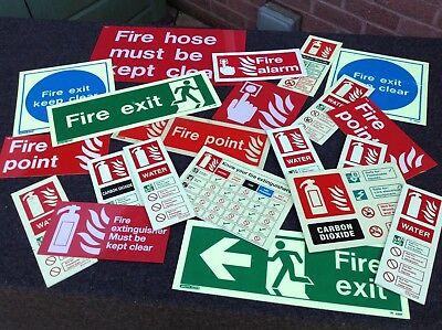 Fire Safety Signage - Job Lot of 20  x. Various Fire Signs