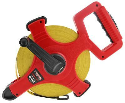 50m EXTRA LONG Tape Measure EASY to READ Imperial & Metric Measurements 50 METRE