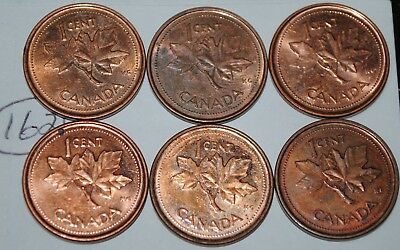 Canada 2002 P x 6  1 Cent Canadian Magnetic Pennies Coins  Lot #162