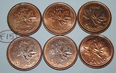 Canada 2002 P x 6  1 Cent Canadian Magnetic Pennies Coins  Lot #F15