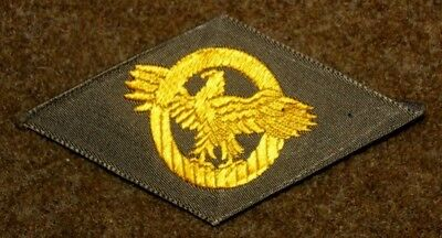 """Wwii Ww2 U.s. Honorable Discharge """"ruptured Duck"""" Patch Od / Khaki Rayon"""
