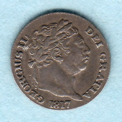 Great Britain.  1817 George 111 - Silver Penny..  aEF/EF.. Trace Lustre