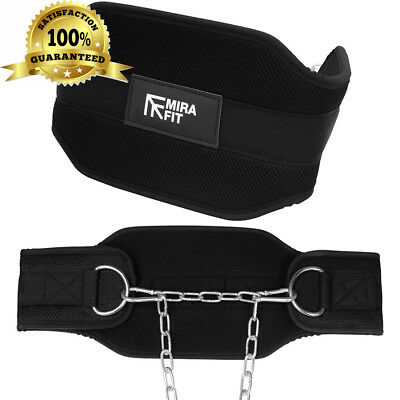 Mirafit Pro Range Weight Belt with Chain - For Weighted Dips & Pull Ups