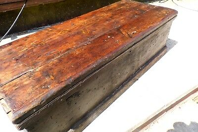 antique trunk chest box pine coffee table industrial