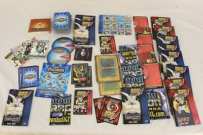BIG LOT OF MIXED DIGIMON Cards DRAGON BALL Z Rule Books +MORE