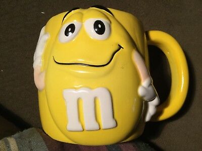 Vintage M&M Mug by Galerie 2002 yellow