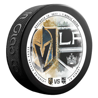 VEGAS GOLDEN KNIGHTS vs LOS ANGELES KINGS NHL Matchup Hockey Puck 11/19/17