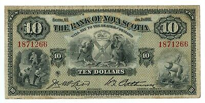 1935 Dominion of Canada The Bank of Nova Scotia Chartered $10 Note