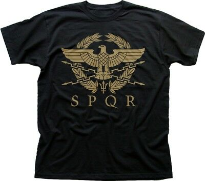 SPQR Roman Gladiator Imperial Golden Eagle Army printed t-shirt OZ9183