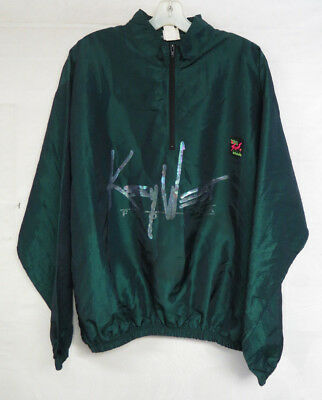VTG 90s SURF STYLE KEY WEST PULLOVER JACKET IRIDESCENT EMERALD GREEN